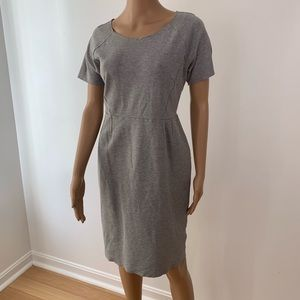 H&M women dress midi size L short sleeve zipper